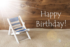 Alles Gute zum Geburtstag Sommer-Sunny Greeting Card And Texts stockfotos