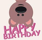 Alles Gute zum Geburtstag - Teddybär - Regenbogen Stockfoto