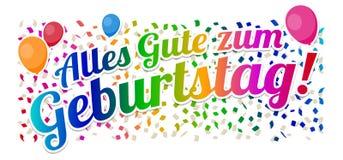 Alles Gute zum Geburtstag - vektor för lycklig födelsedag stock illustrationer