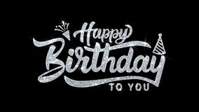 Alles Gute zum Geburtstag w?nscht Blinkentext Partikelgr??e, Einladung, Feierhintergrund