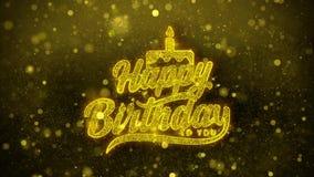 Alles Gute zum Geburtstag Wunschgrußkarte, Einladung, Feierfeuerwerk vektor abbildung