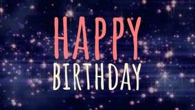 Alles- Gute zum Geburtstaganmerkung gegen blauen Hintergrund stock abbildung