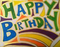 Alles Gute zum Geburtstagauslegung Lizenzfreie Stockfotografie
