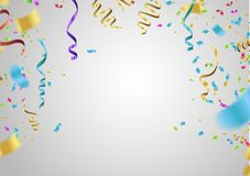 Alles Gute zum Geburtstagauslegung Grenze realistischen bunten Helium ballo stock abbildung