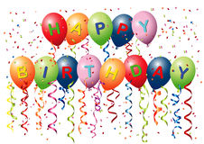Alles- Gute zum Geburtstagballone Vektor Abbildung