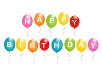 Alles Gute zum Geburtstagballone Stockfoto