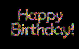Alles- Gute zum Geburtstagballone, Mehrfarben. Stockfoto