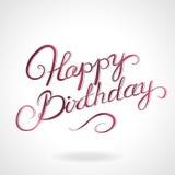 Alles- Gute zum Geburtstagbeschriftung Lizenzfreies Stockfoto