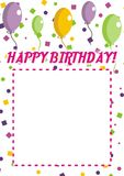 Alles- Gute zum Geburtstageinladung Lizenzfreies Stockfoto