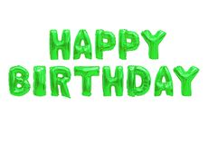 Alles- Gute zum Geburtstagfarbgrün vektor abbildung