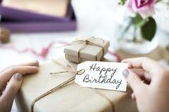 Alles- Gute zum Geburtstagfeier-Glückwunsch-Partei-Konzept HBD Stockbilder