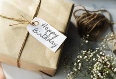 Alles- Gute zum Geburtstagfeier-Glückwunsch-Partei-Konzept HBD Stockfotografie