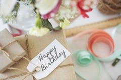 Alles- Gute zum Geburtstagfeier-Glückwunsch-Partei-Konzept HBD Stockfoto