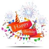 Alles- Gute zum Geburtstagfeiertagshintergrund Lizenzfreies Stockbild