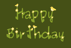 Alles- Gute zum Geburtstaggänseblümchen blüht Green Card Stockbild