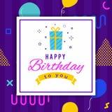 Alles- Gute zum Geburtstaggeometrische abstrakte Gruß-Karte Stockbilder