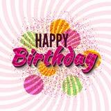 Alles- Gute zum Geburtstaggrüße Lizenzfreie Stockfotos