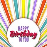 Alles- Gute zum Geburtstaggrüße Lizenzfreie Stockbilder