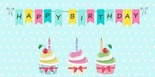 Alles- Gute zum Geburtstaggruß-Karten-Vektor-Illustration Lizenzfreie Stockfotos