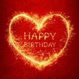 Alles Gute zum Geburtstaggrußkarte Stockfotografie