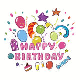 Alles- Gute zum Geburtstaggrußkarte Lizenzfreies Stockbild