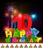 Alles- Gute zum Geburtstaggrußkarte Stockbilder
