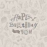 Alles Gute zum Geburtstaggrußkarte Lizenzfreies Stockbild