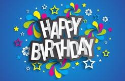 Alles Gute zum Geburtstaggrußkarte Stockfoto
