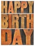 Alles Gute zum Geburtstaggrußkarte lizenzfreie stockfotos