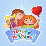 Alles Gute zum Geburtstaggrußkarte Stockbild