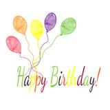 Alles Gute zum Geburtstaggrußkarte Stockfotos