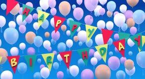 Alles- Gute zum Geburtstaggrußkarte 3d übertragen Illustration 3d Stockfotos