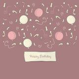Alles Gute zum Geburtstaghintergrund Stockfotos