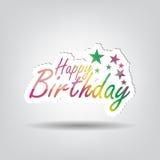 Alles- Gute zum Geburtstaghintergrund stock abbildung