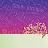 Alles- Gute zum Geburtstaghintergrund lizenzfreie abbildung