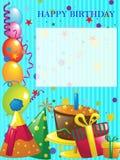 Alles- Gute zum Geburtstaghintergrund Stockfoto