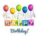 Alles Gute zum Geburtstaghintergrund Lizenzfreie Stockbilder