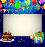 Alles Gute zum Geburtstaghintergrund Lizenzfreies Stockfoto