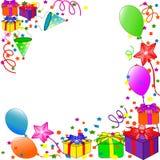 Alles Gute zum Geburtstaghintergrund stock abbildung