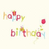 Alles- Gute zum Geburtstagkarte Lizenzfreies Stockbild