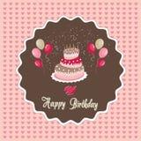 Alles Gute zum Geburtstagkarte Lizenzfreie Stockfotos