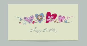 Alles Gute zum Geburtstagkarte Lizenzfreie Stockbilder