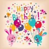 Alles Gute zum Geburtstagkarte vektor abbildung