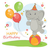Alles Gute zum Geburtstagkarte. Lizenzfreies Stockfoto