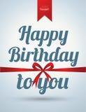 Alles Gute zum Geburtstagkarte Lizenzfreies Stockbild