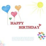 Alles Gute zum Geburtstagkarte Lizenzfreie Stockfotografie