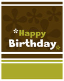 Alles Gute zum Geburtstagkarte - Vektor Lizenzfreie Stockfotos