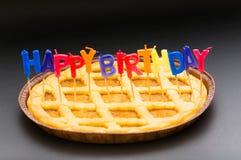 Alles Gute zum Geburtstagkerzen Stockfotografie