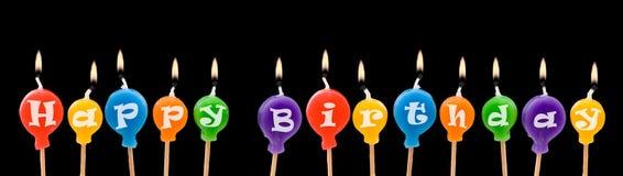 Alles- Gute zum Geburtstagkerzen Stockfoto