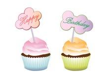 Alles- Gute zum Geburtstagkleiner kuchen Lizenzfreie Stockbilder